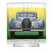 1937 Bugatti 57 S C Atalante Shower Curtain