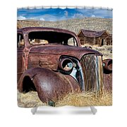 1937 Chevrolet Coupe At Bodie Shower Curtain
