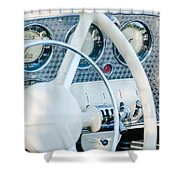 1937 Cord 812 Phaeton Dashboard Instruments Shower Curtain