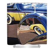 1937 Cord 812 Phaeton Reflected Into Packard Shower Curtain