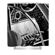 1937 Cord 812 Phaeton Steering Wheel Shower Curtain