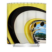 1937 Cord 812 Phaeton Wheel Rim Reflecting Cadillac Shower Curtain