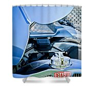 1937 Delahaye 115a Engine Shower Curtain