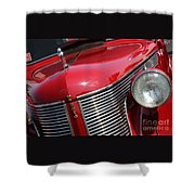 1937 Desoto Front Grill And Head Light 7285 Shower Curtain