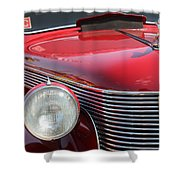 1937 Desoto Front Grill And Head Light-7289 Shower Curtain