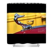 1937 Desoto Hood Ornament-7277 Shower Curtain