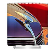 1937 Ford Hood Ornament 2 Shower Curtain
