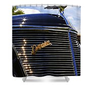 1937 Ford Model 78 Cabriolet Convertible By Darrin Shower Curtain
