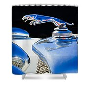 1937 Jaguar Prototype Hood Ornament -386c55 Shower Curtain