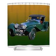 1937 Jaguar S S Onehundred  Shower Curtain