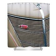 1937 Lincoln-zephyr Coupe Sedan Grille Emblem - Hood Ornament Shower Curtain