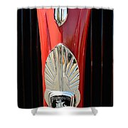 1937 Plymouth  Emblem Shower Curtain