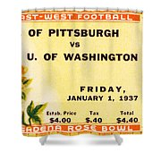 1937 Rose Bowl Ticket Shower Curtain