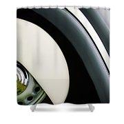 1938 Bmw 327 - 8 Cabriolet Rear Wheel Emblem -2668c Shower Curtain