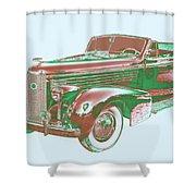 1938 Cadillac Lasalle Antique Pop Art Shower Curtain