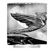 1938 Cadillacv-16 Hood Ornament Shower Curtain