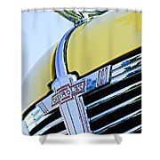 1938 Chevrolet Coupe Hood Ornament -0216c Shower Curtain