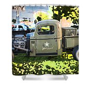 1938 Chevy Pick Up Truck Rat Rod Shower Curtain