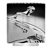 1938 Dodge Ram Hood Ornament -136bw46 Shower Curtain