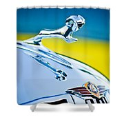 1938 Dodge Ram Hood Ornament -136c46 Shower Curtain