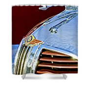 1938 Dodge Ram Hood Ornament 3 Shower Curtain by Jill Reger