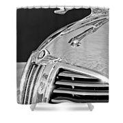 1938 Dodge Ram Hood Ornament 4 Shower Curtain