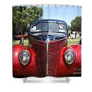 1938 Ford Two Door Sedan Front View Shower Curtain
