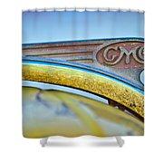 1938 Gmc Hood Ornament Shower Curtain