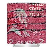 1938 John Adams Stamp Shower Curtain