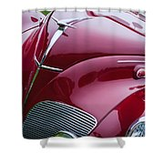 1938 Lincoln-zephyr Convertible Coupe Grille - Hood Ornament - Emblem Shower Curtain