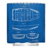 1938 Rowboat Patent Artwork - Blueprint Shower Curtain