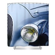 1938 Talbot-lago 150c Ss Figoni And Falaschi Cabriolet Headlight - Emblem Shower Curtain