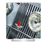 1939 Aston Martin 15-98 Abbey Coachworks Swb Sports Grille Emblems Shower Curtain