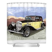 1939 Bentley Mark Four Sport Sedan Shower Curtain