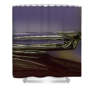 1939 Cadillac Hood Ornament Shower Curtain
