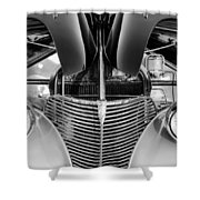1939 Chevrolet Coupe Grille -115bw Shower Curtain