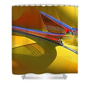 1939 Chevy Hood Ornament Shower Curtain