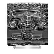 1939 Chevy Immenent Front Bw Art Shower Curtain