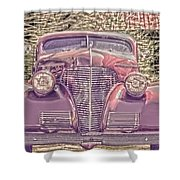 1939 Chevy Immenent Front Color Shower Curtain