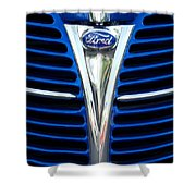 1939 Ford Woody Wagon Grille Emblem Shower Curtain