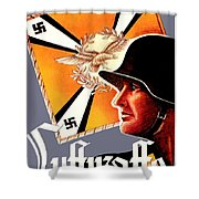 1939 German Luftwaffe Recruiting Poster - Color Shower Curtain