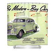 1939 Imperial Vintage Automobile Ad Shower Curtain