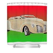 1939 Lincoln Zephyr Speedster Shower Curtain by Jack Pumphrey