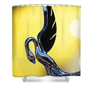 1939 Packard Hood Ornament Shower Curtain
