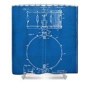1939 Snare Drum Patent Blueprint Shower Curtain