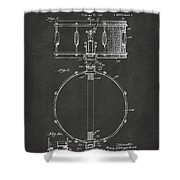 1939 Snare Drum Patent Gray Shower Curtain