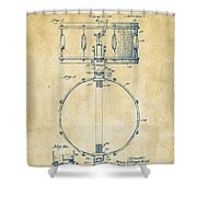 1939 Snare Drum Patent Vintage Shower Curtain