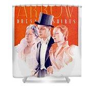 1940 - Arrow Shirts Hans Flato Advertisement - 1940 Shower Curtain