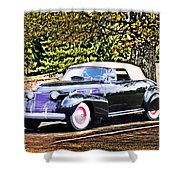 1940 Cadillac Coupe Convertible Shower Curtain