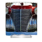 1940 Cadillac Coupe Front View Shower Curtain